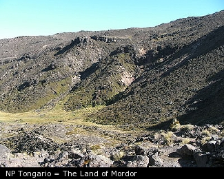 NP Tongario = The Land of Mordor